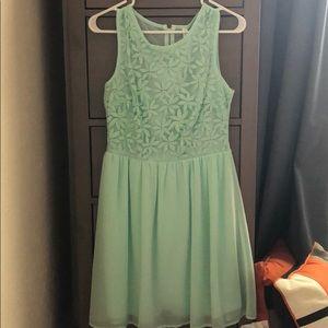 Xhiliration sea foam dress